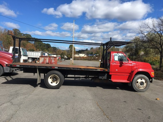 1997 Ford F800 Flat Bed Utility Body