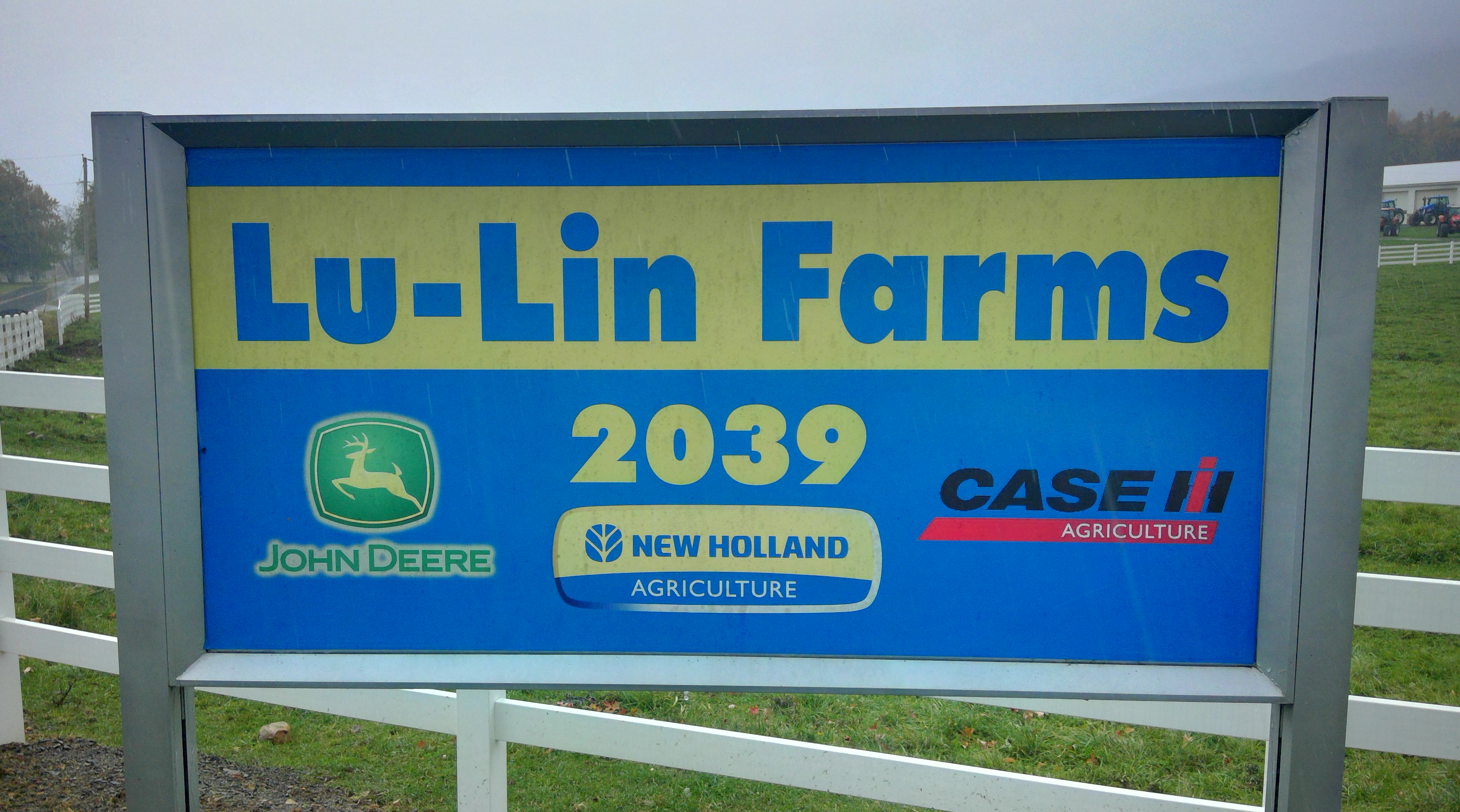Lu-Lin Farms Sign