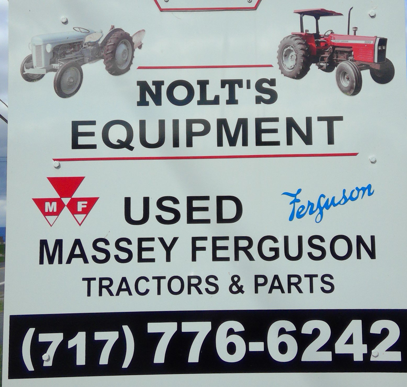Nolt's Equipment Sign